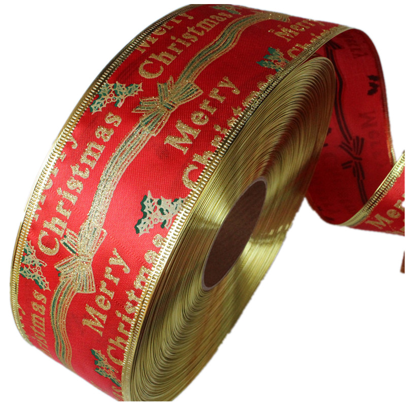 100yards 2 5 63mm merry christmas red ribbon christmas for Where can i buy a red christmas tree
