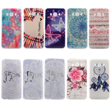 Slim Silicone Gel Phone Case Protective Back Cover Flower Pattern Painted for Samsung Galaxy J5 2016 J510 J510X Shockproof Bag