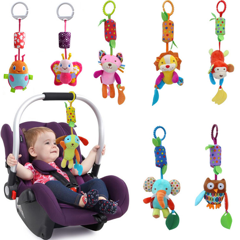 Baby Gift Hot Sale New Infant Toys Mobile Baby Plush Toy Bed Wind Chimes Rattles Bell Toy Stroller for Newborn CG82501(China (Mainland))