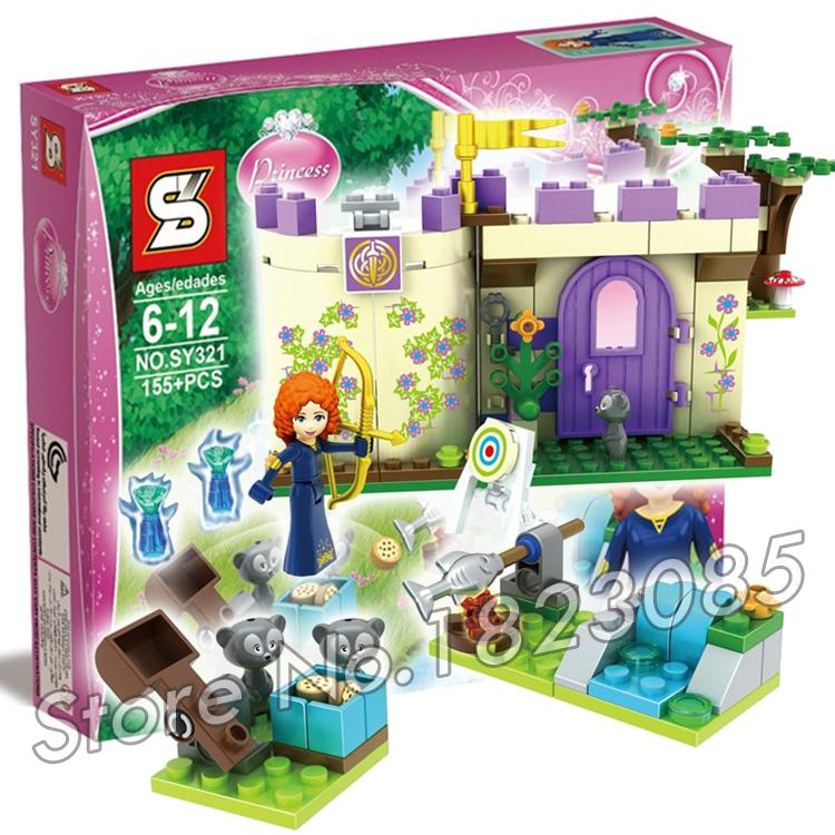 155pcs SY321 Princess Series Merida's Highland Games Princess Castle Building Brick Blocks Snow queen Toys Compatible With Lego(China (Mainland))