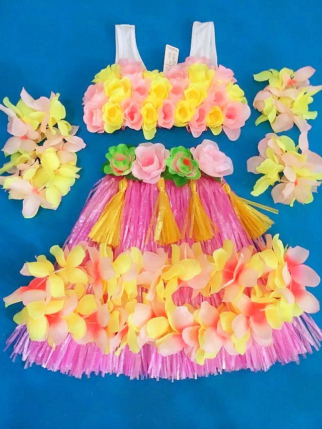 De 2016 Hula optredens van Hawaii kleding zes een 40 cm dikke Hula Hula kinderen pak(China (Mainland))
