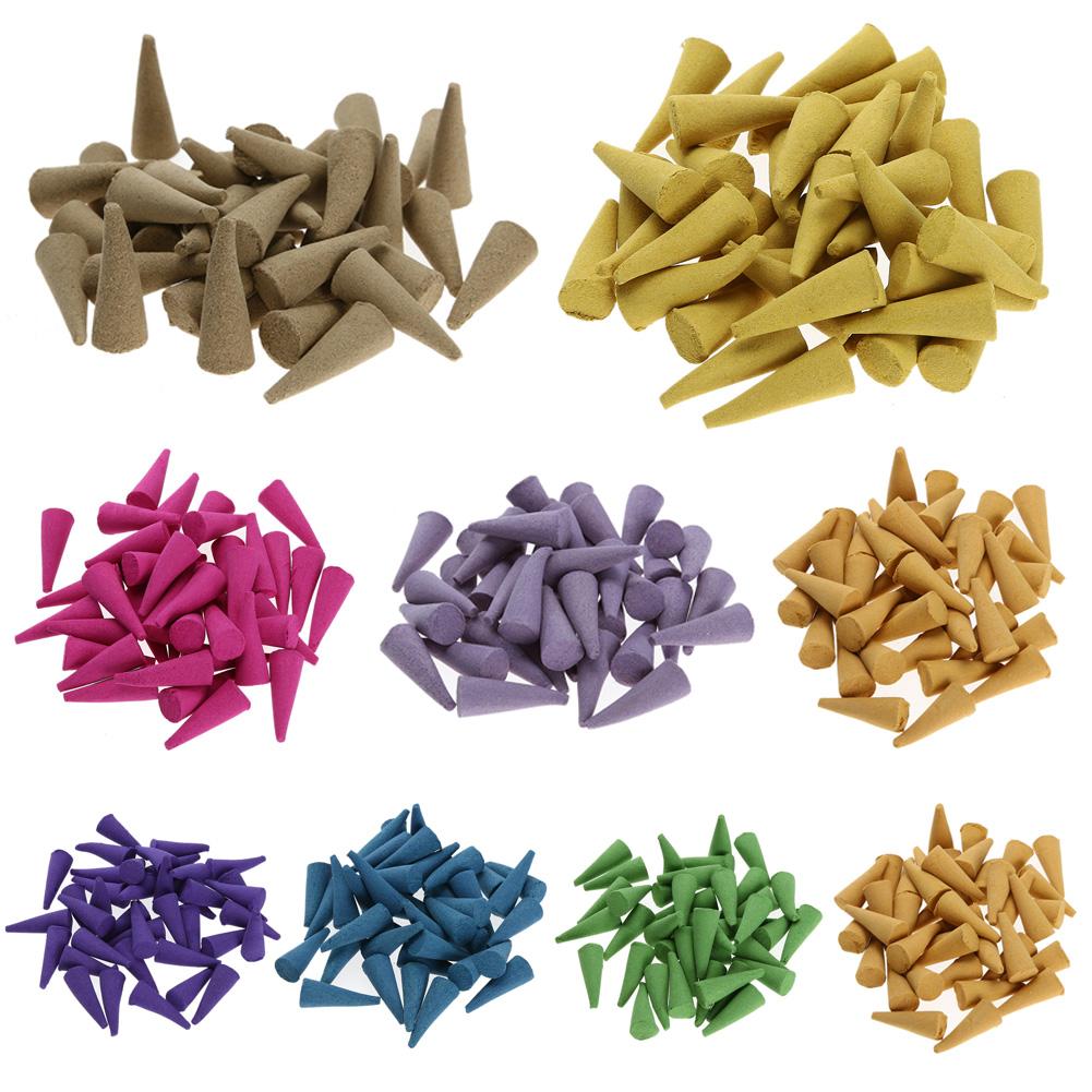 40 Grains Natural Sandalwood Green Tea Tsao Incense Sticks Backflow Fragrant Granules Relaxing Relieving Stress