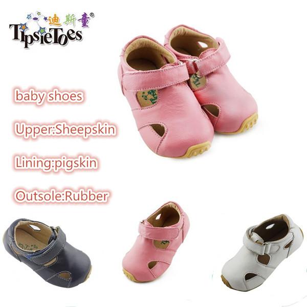TipsieToes Brand Sheepskin Leather Kids Children Moccasins Sandals Shoes Boys Girls New 2014 Summer 63102 - Mummy And Kid's Love Shoe store