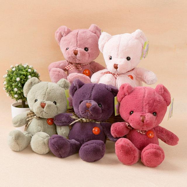 (1 шт.) фаршированные Плюшевых Медведей Kawaii Животных Мягкие игрушки Плюшевые Игрушки Детей Дети День Рождения Подарки Фиолетовый Розовый Зеленый Розовый 2 Размеров, чтобы Выбрать