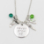 """Peter Pan Crystals Necklace """"Never grow up""""Hand Stamped Jewelry,Tinkerbell Neverland ,Umbrella,Bowknot Necklace for Women/Girls"""