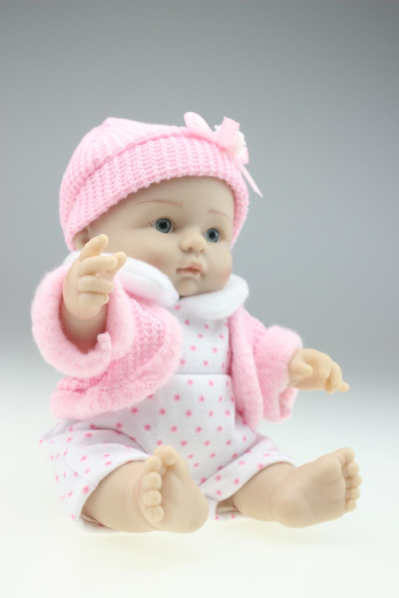 new 25cm mini toy simulation doll baby silicone doll baby shower doll