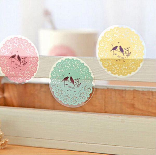 10pc/sheet Round DIY Envelope Seal Phone Decal Stickers Cute Stationery Scrapbooking Paper Lace Album Diary Decoration Stickers<br><br>Aliexpress
