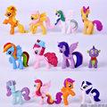 New Version 12pcs lot 7cm Cute Action Figure Toy Collection pawl Cute patroled PVC Unicorn Poni
