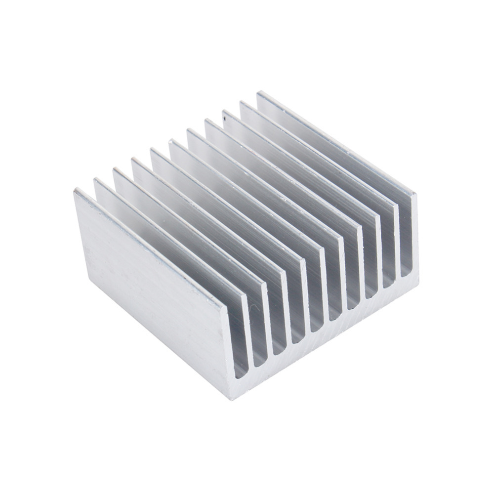 Cooling Accessories White Color Heat Sink 40X40X20mm IC Heat Sink Aluminum Cooling Fin Fan(China (Mainland))