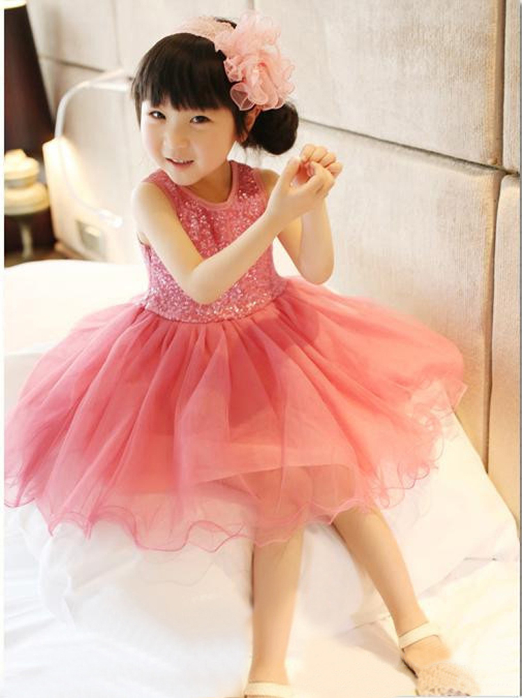 2014 summer sleeveless girls chiffon party dress,little sequined lace princess fairy dresses clothes teens ADP002 - kids on line store