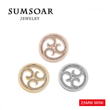 Sumsoar Coin 25mm Mini Spinning Thoughts Disc for 27mm Small My Coin Holder Frame Pendant 10pcs/lot(China (Mainland))