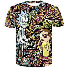 Новейший Летний покер с черепами из мультфильма Рик и Морти, Мужская футболка с короткими рукавами, 3D футболка, Повседневные Дышащие футбол...(China)