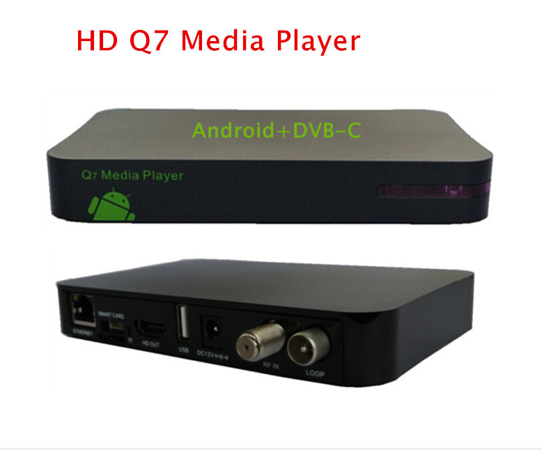2pcs/lot free to UK Android DVB C HD receiver box with 1GRAM+8GRom support CCCam newcamd network sharing upgrade of Q5 HD PVR(China (Mainland))