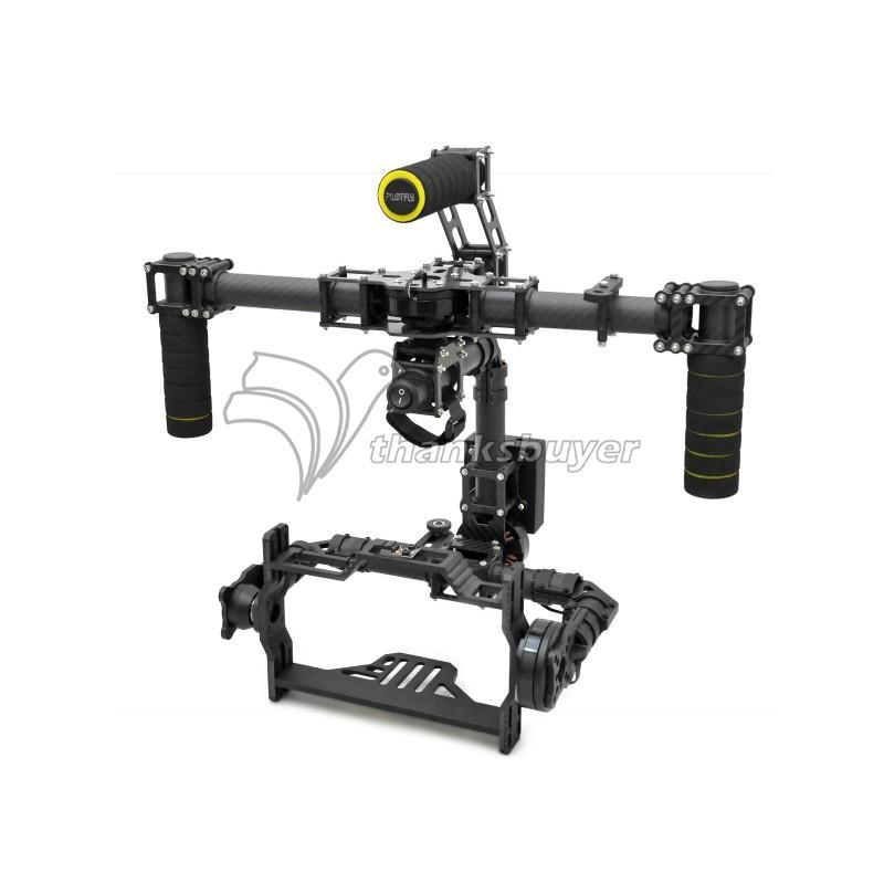DSLR Brushless Handle 3 Axis Carbon Fiber Camera Gimbal Frame Kits Only for D800 D900 &amp; Other DSLR camera<br><br>Aliexpress