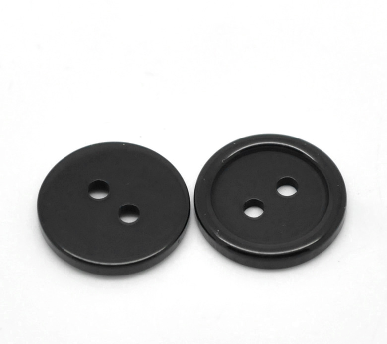 "Resin Sewing Button Scrapbooking Round Black 2 Holes 15.0mm( 5/8"")Dia,25 PCs 2015 new(China (Mainland))"
