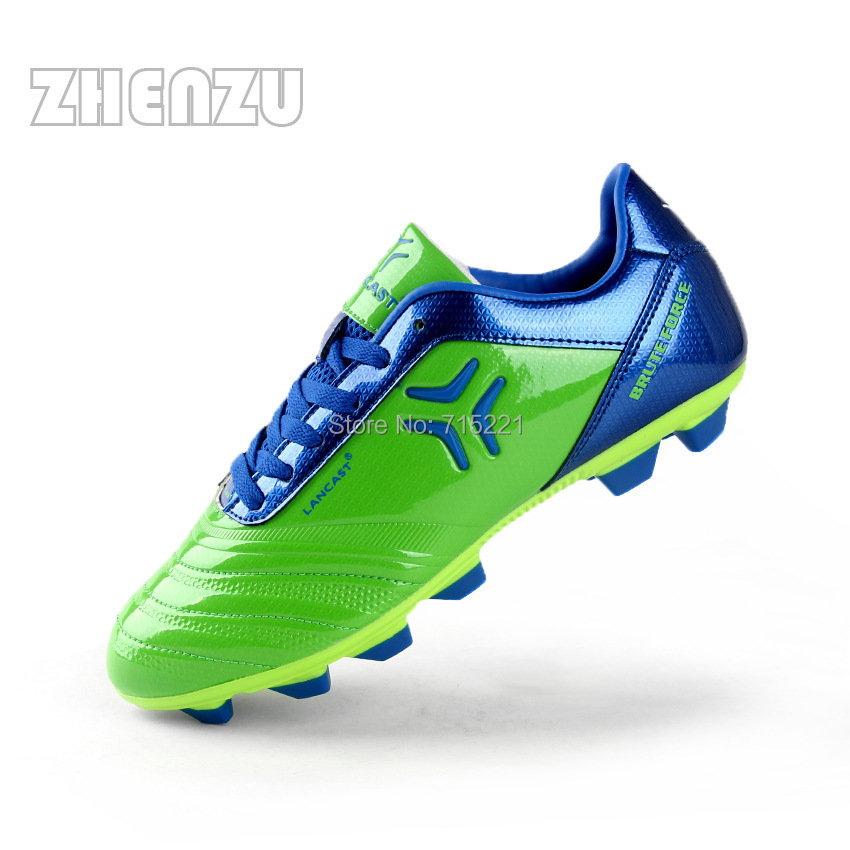 Green soccer cleats size 7.5 sneakers lace up football ...
