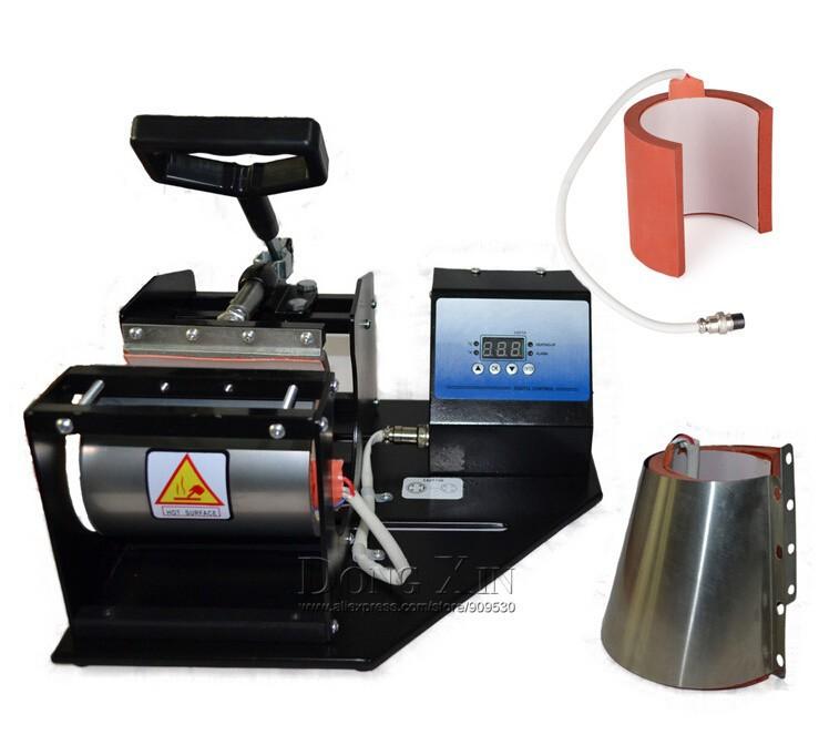 Купить Бесплатная доставка 2in1 передача тепла машина DX-022 Сублимации Машина давления Жары Для Кружка 2 in1 печатная машина LY-022 Белый и черный