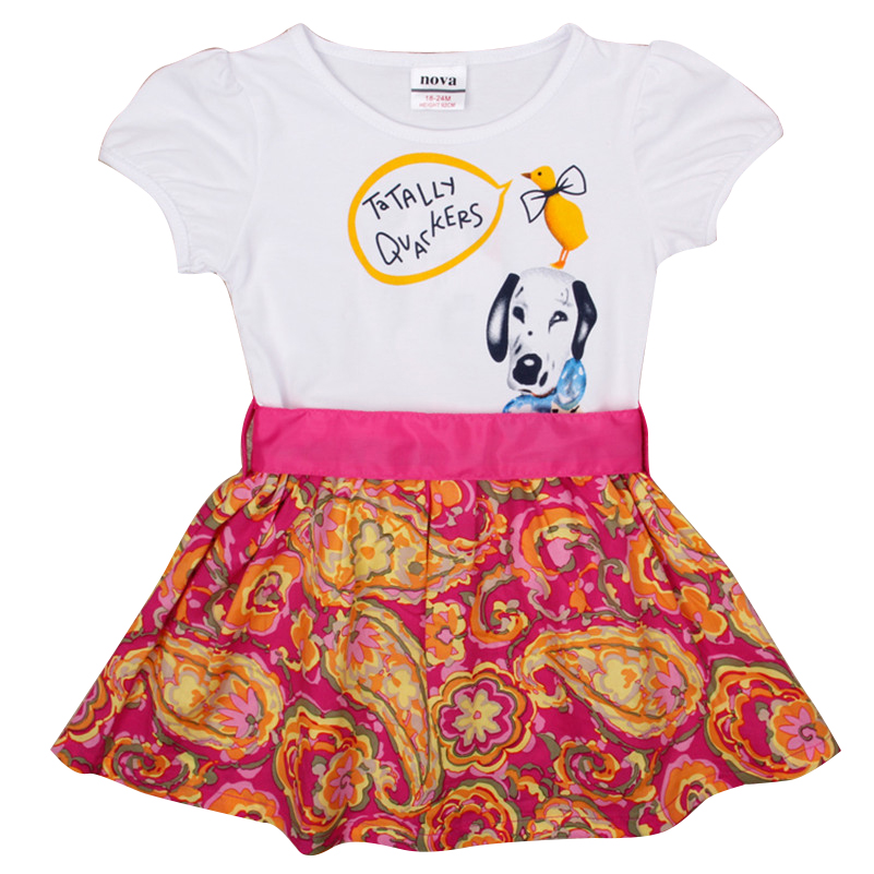 girl dress baby girl clothes kids nova 2016 hot sale new fanshion girls dress summer party floral dress for baby girls H4906(China (Mainland))