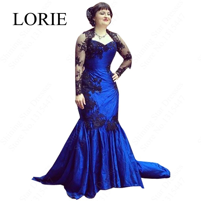 Buy gothic royal blue mermaid wedding for Long blue dress for wedding