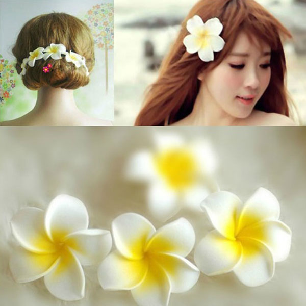 Quality  Women Girl Gift Hawaii Flower Corsages Brooch Pin Hair Clip Wedding Hair Jewelry head flower  Free ShippingОдежда и ак�е��уары<br><br><br>Aliexpress