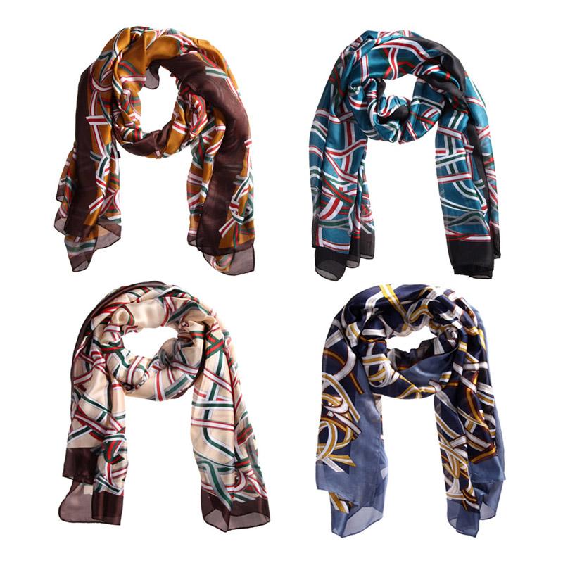 2016 New Brand Men And Women Scarf Warm Scrafs fashion soft silk chiffon shawl wrapped scarf warm and soft scarves ALOM(China (Mainland))