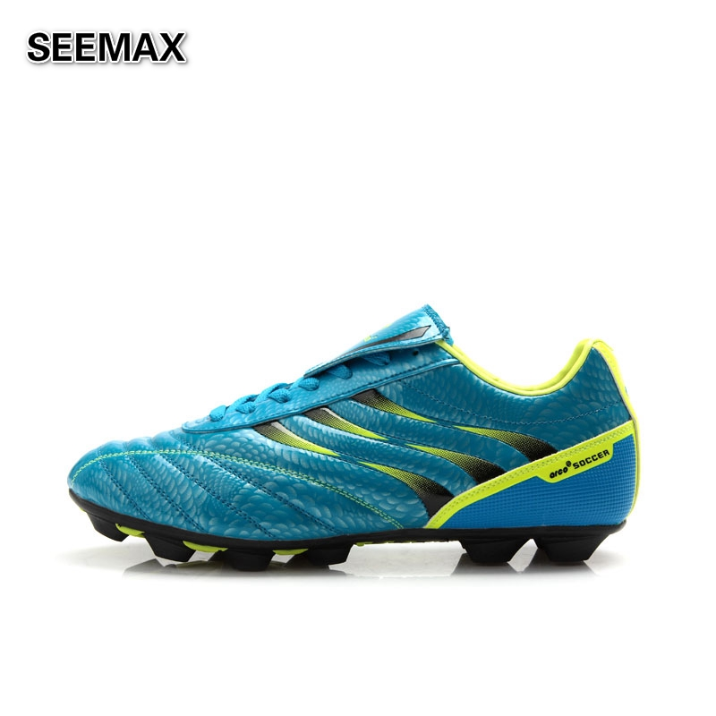 Mens Outdoor Athletic Soccer Cleats Traning Soccer Shoes Women Top Quality Breathable Non-Slip Black Blue Football Boots(China (Mainland))