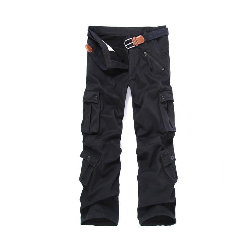 Men's Inside Velvet Multi Pocket Outdoor Pants Large Size ...