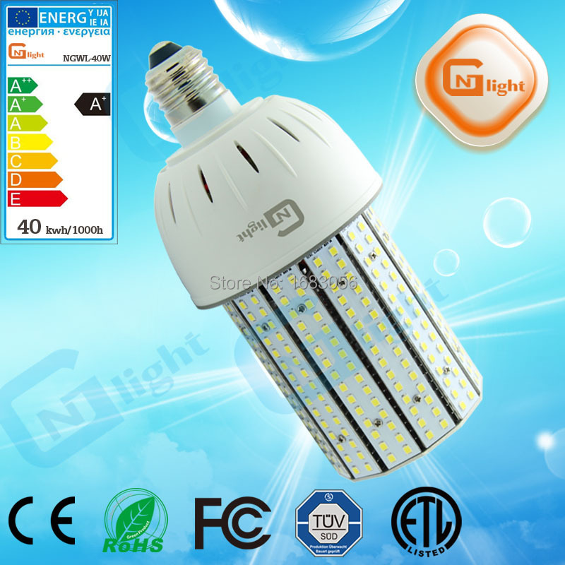 High Quality Mercury light replacement E27 LED bulb 40W 3 years warranty led corn lamp(China (Mainland))