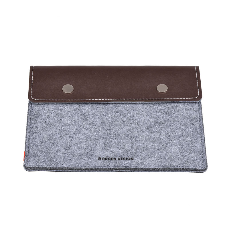 Cotton Leather Protection Cover Kits For iPad Air For Apple Tablets High Quality Cotton Double Layers Gray Brown Sleeve Cases(China (Mainland))