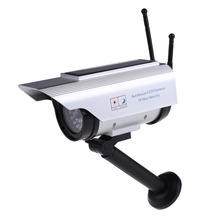 Top Sell Solar Power Fake Dummy Outdoor Security Home CCTV Camera Flashing LED light   FC(China (Mainland))