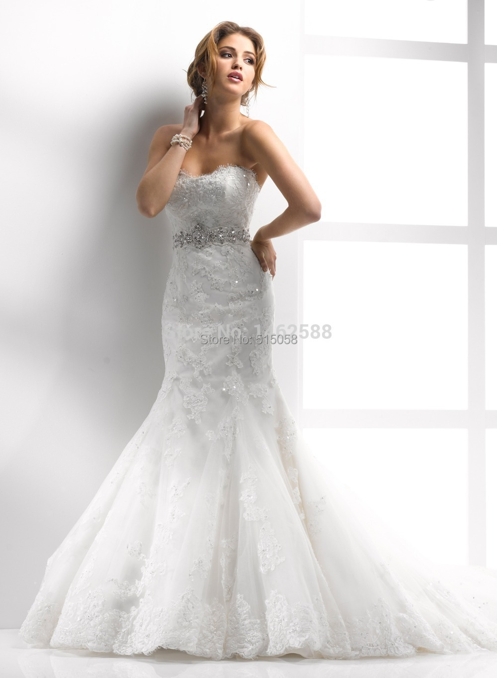 Buy strapless sweetheart lace up back for Wedding dresses with lace up back