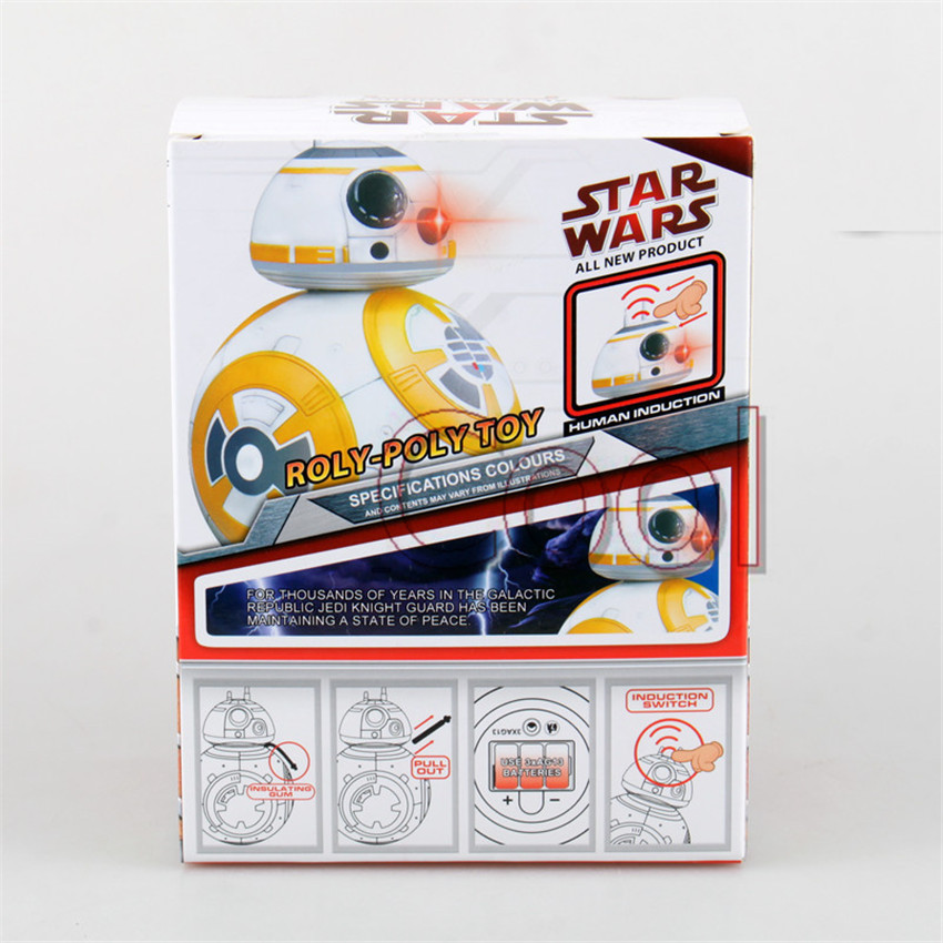 """Kids Toys Action Figure 5"""" Light and Sound bb 8 Brinquedos Sphero bb-8 Juguetes Droid Star Wars The Force Awakens bb8 Robot Toys(China (Mainland))"""