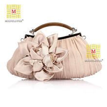 2016 NEW Arrival!!! Wholesale Price Popular Silk Elegant Dinner Evening Bags ,Flower Decoration Clutch Bags, Free Shipping