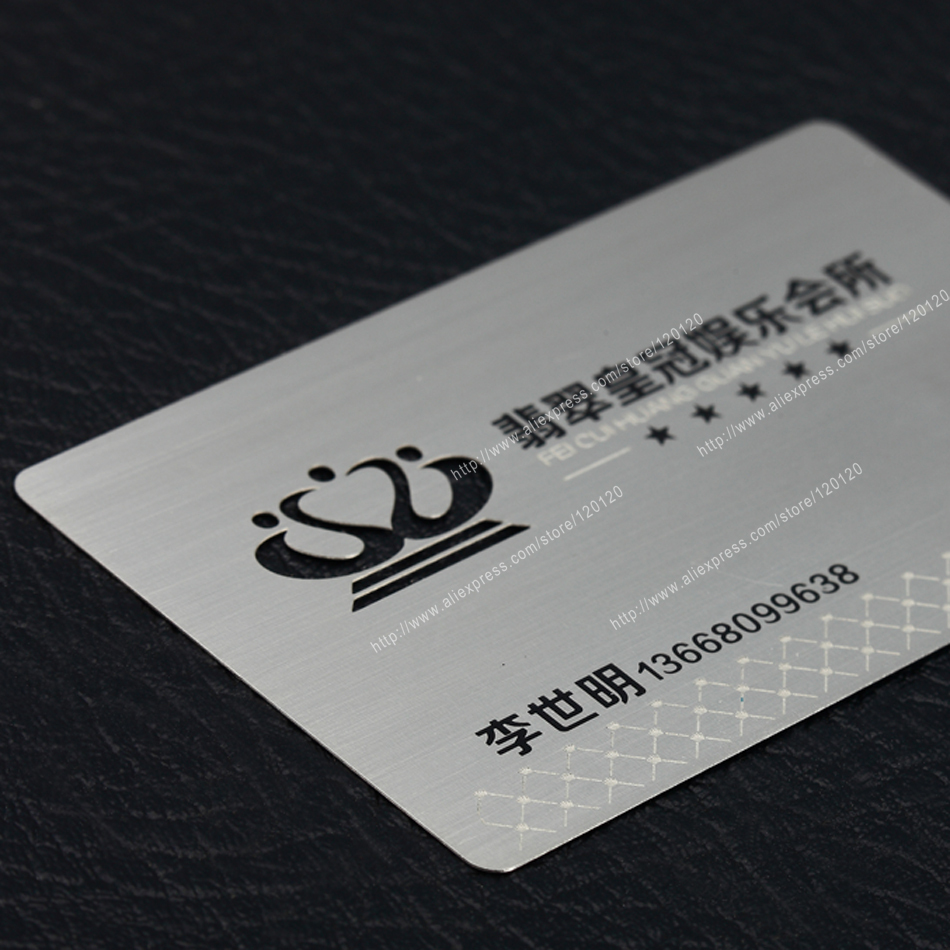 Personality hollow out tree wiredrawing stainless steel business metal card<br><br>Aliexpress