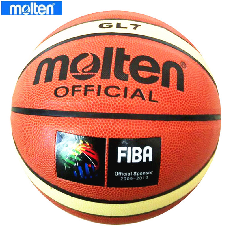 Official Molten Basketball Ball GL7 PU Leather Official Size 7 Indoor Outdoor Training Ballon Basketball Free Pump+Net bag+ Pin(China (Mainland))