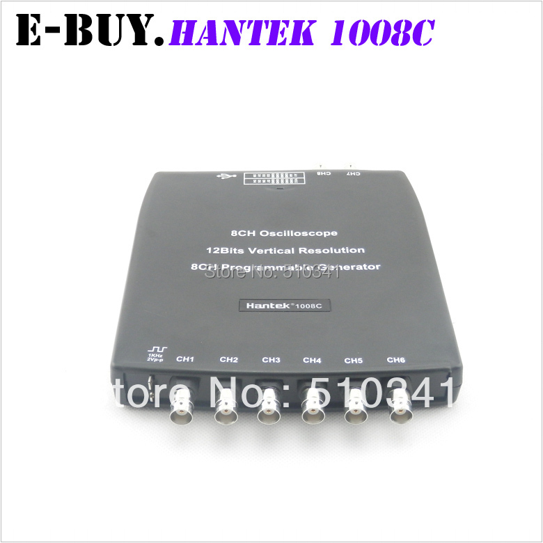 H051 Hantek1008C 8CH USB Auto Scope/DAQ/8CH Generator Automotive Diagnostic Oscilloscope Hantek 1008C(China (Mainland))