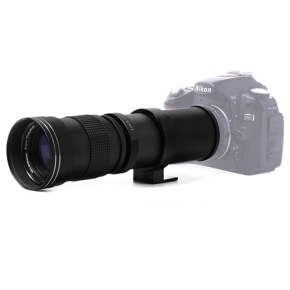 420-800mm F/8.3-16 Manual Super Telephoto Zoom Lens + T2 Adapter Nikon D3200 D3300 D5200 D5500 D7000 D7200 D800 D90 DSLR