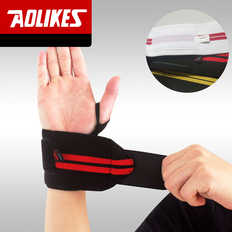 Professional Weight Lifting Sports Wristband Gym Wrist Thumb Support Straps Wraps Bandage Fitness Training Safety Hand Bands