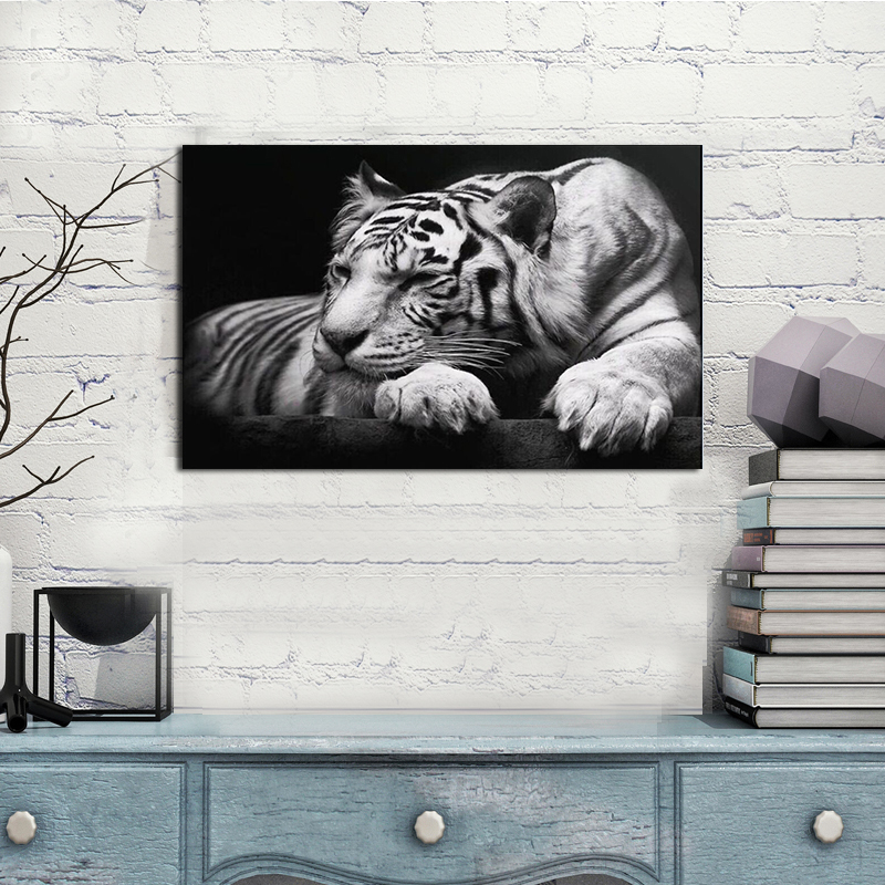 Free shipping oil Painting Cuadros Quadros Tiger Printed Painting Oil Painting On Canvas Home Decorative Art Picture(China (Mainland))