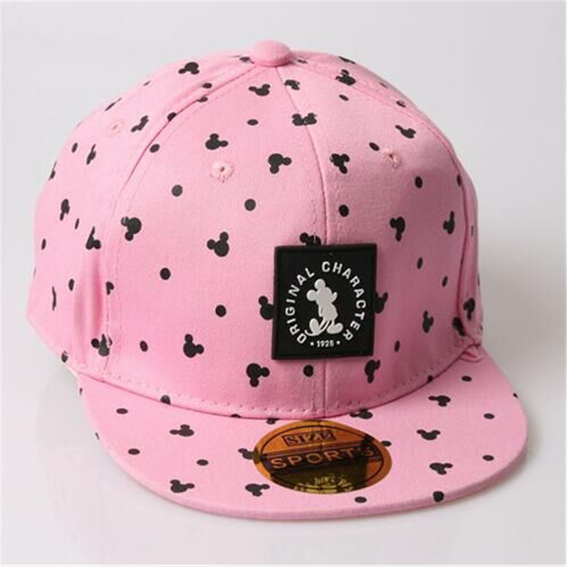 4 colorsFree shipping 2016 new male and female cartoon baby hip hop baseball cap,