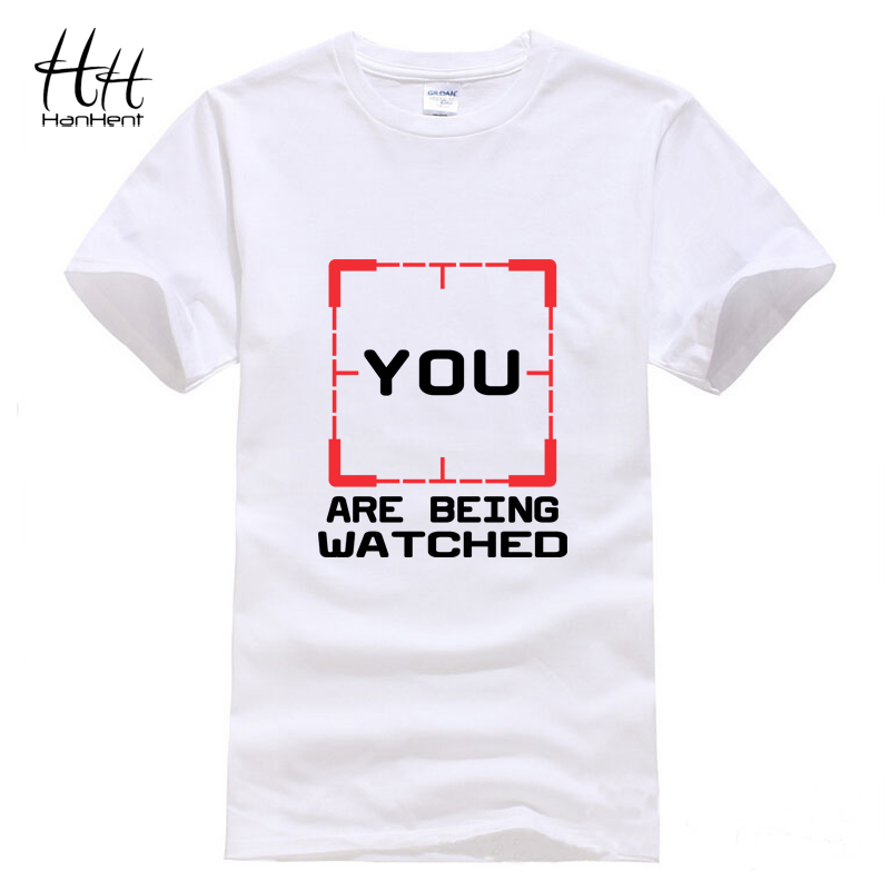 Hanhent YOU ARE BEING WATCHED T-shirt Men Person of Interest POI Crime TV Tee shirt Cotton Fashion Summer T shirt Gym clothing(China (Mainland))