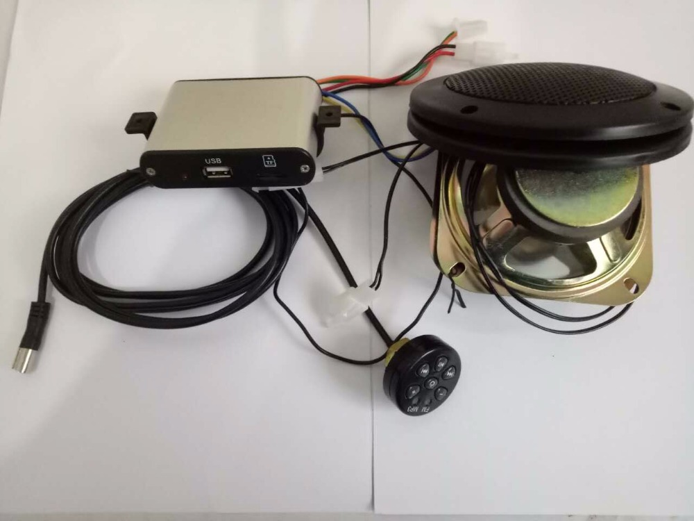 12v Motorcycle MP3/scooter big power amplifier FM radio audio music system support TF card(China (Mainland))