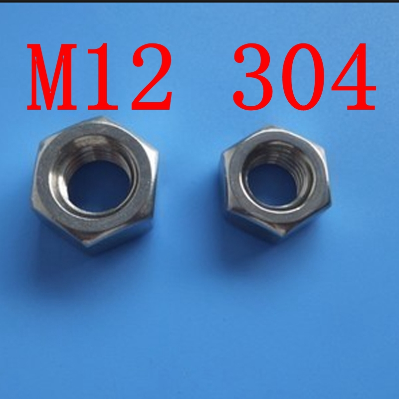 M12 304 Stainless Steel Metric Hex Nuts(China (Mainland))