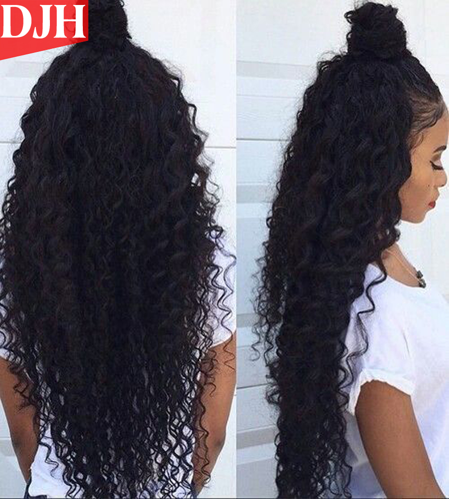 8A Brazilian Deep Wave Hair Unprocessed Deep Wave Virgin Human Hair Remy Deep Curly Hair Weave 3 Bundles Cheap Hair Extension(China (Mainland))