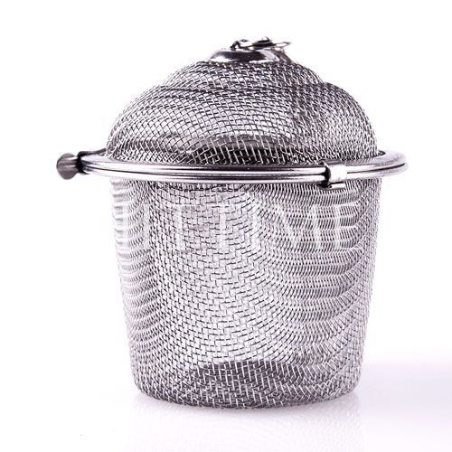 Middle Mesh Ball Reusable Stainless Strainer Herbal Locking Tea Filter Infuser Spice M Size #46896(China (Mainland))
