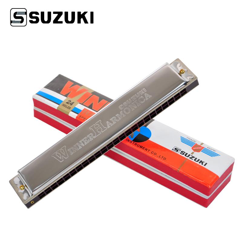 SUZUKI Winner 24 / W 24 24 hole Tremolo Harmonica Key of C Beginner Playing-in Harmonica from ...