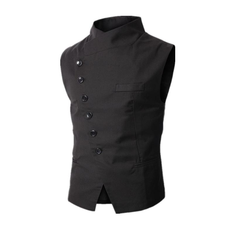 2016 new arrival dress vests for men work sleeveless