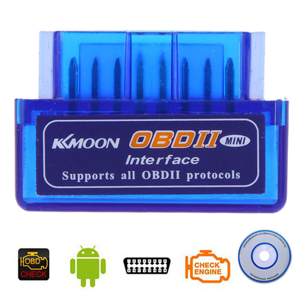 Kkmoon Mini V2.1 ELM327 OBD2 Code Reader Scan Tool Bluetooth Interface Car Scanner Diagnostic-Tool OBDII OBD 2 for Android(China (Mainland))