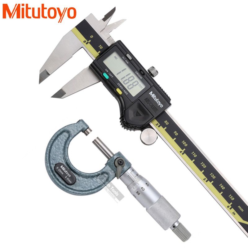 Гаджет  Free shipping retail and wholesaler MITUTOYO micrometer 0-25mm/0.01 and digital caliper 0-150mm/0.01 in group   None Инструменты