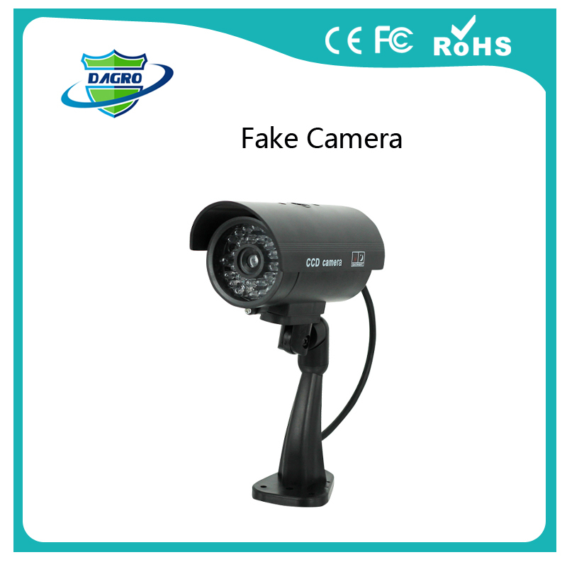 Fake camera Dummy Emulational camera cctv camera bullet waterproof outdoor use for home security with flash LED DY-103(China (Mainland))